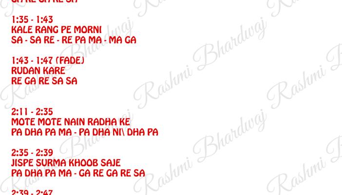 Download Kala Kala Kave Gujri Song S Notation Rashmi Bhardwaj